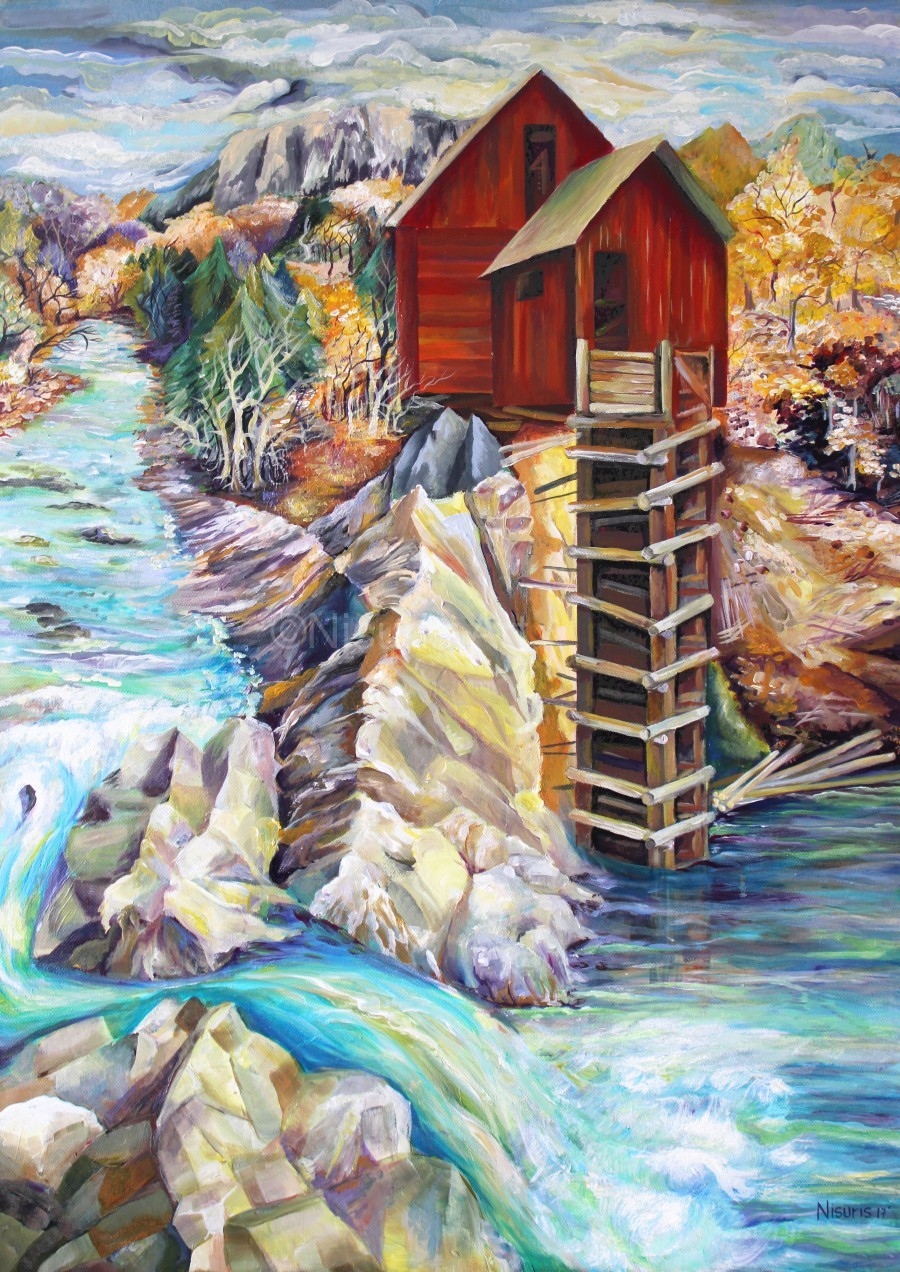 Colorado Rocky Mountains Crystel Mill River   Print