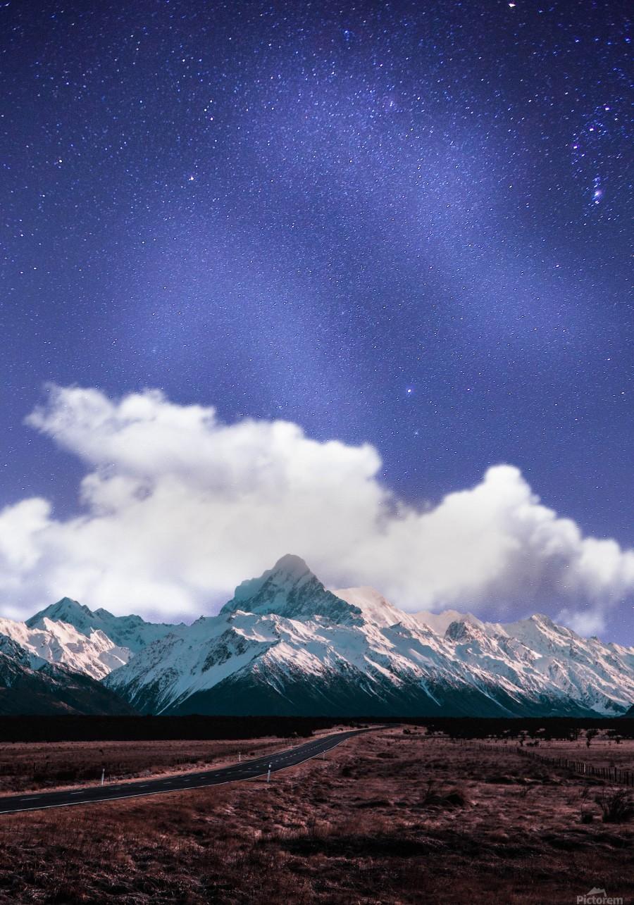 Blue Sky Over The Mountain  Print
