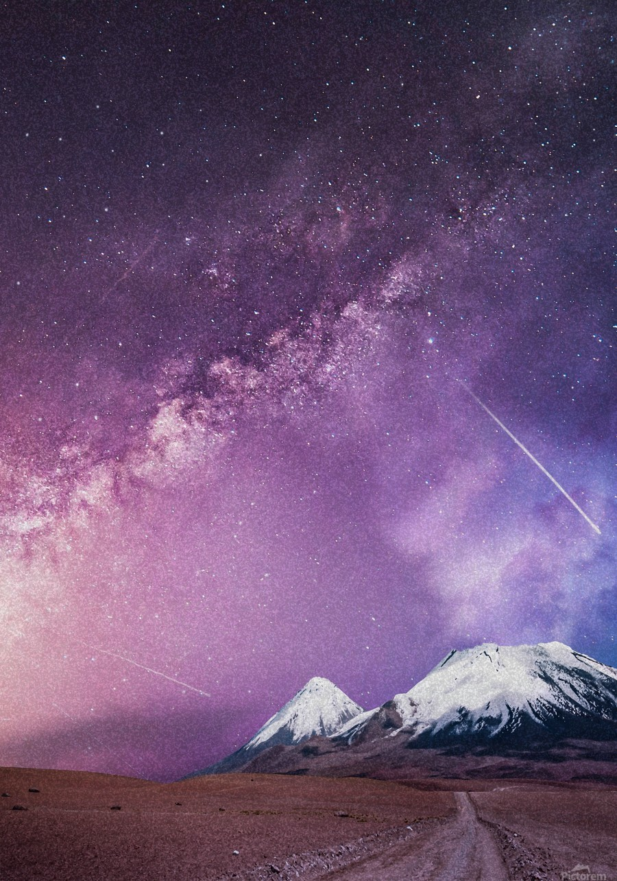 Milky Way Over The Volcano  Print