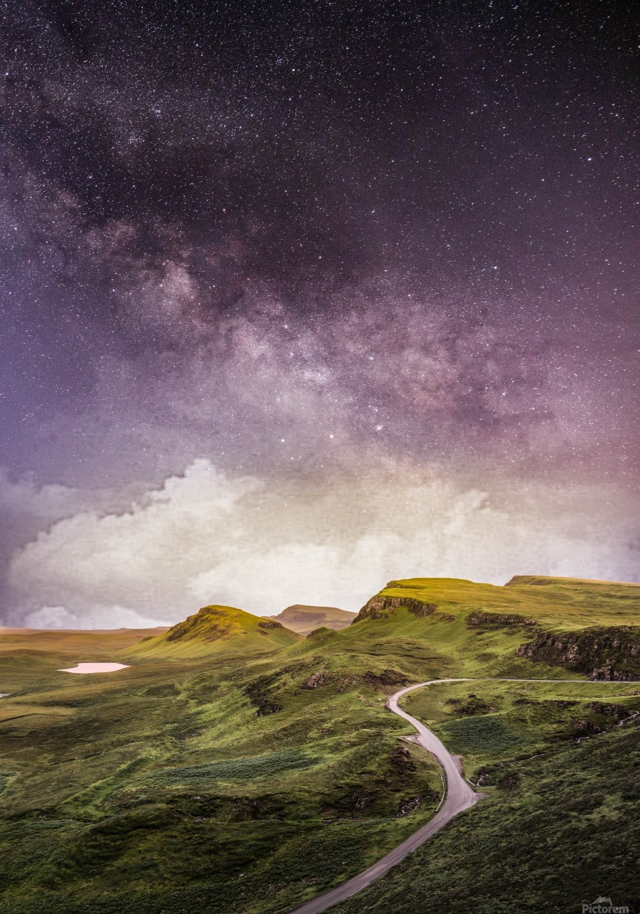 Purple Milky Way And The Sunshine  Print