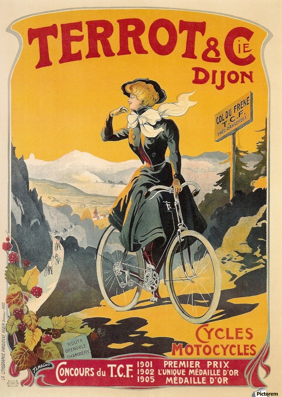 Old French bicycle advertisement poster - VINTAGE POSTER