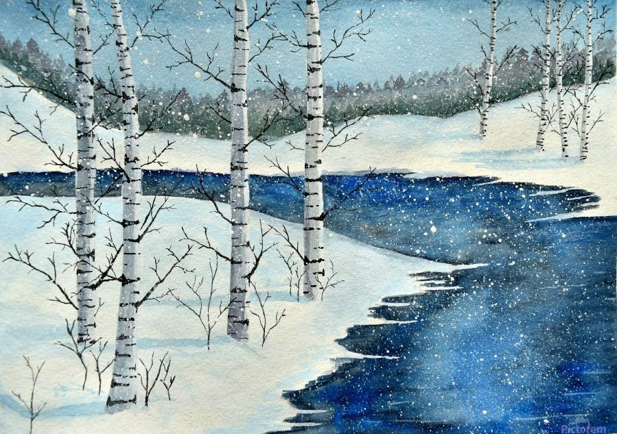 Winter Blues  Print