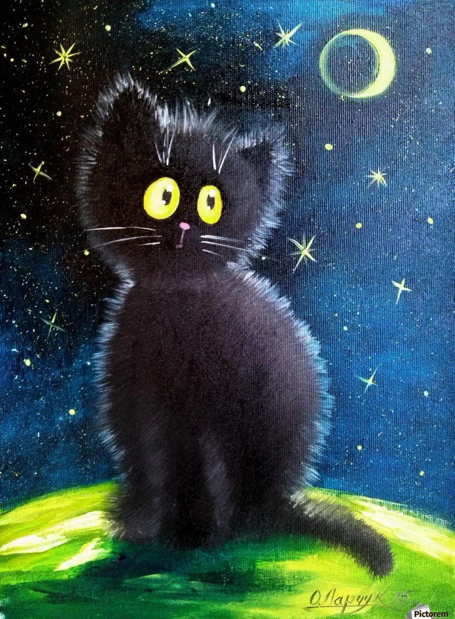 Черный кот  Print