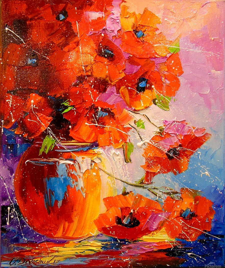 A bouquet of poppies  Print