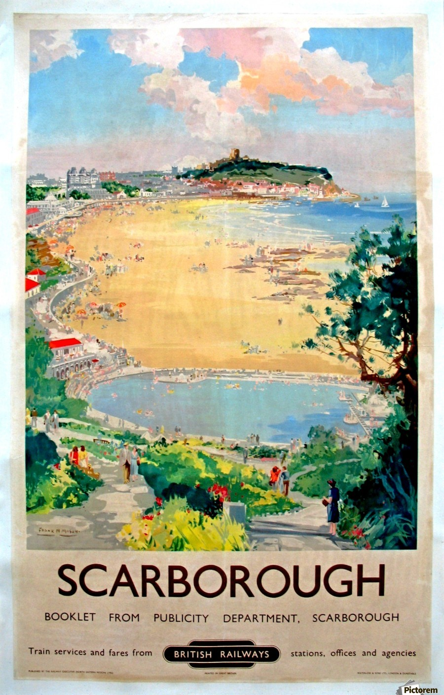 Original Railway Poster Scarborough  Print