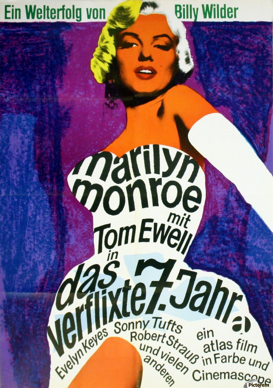 Original Vintage Movie Poster For The Seven Year Itch Starring ...