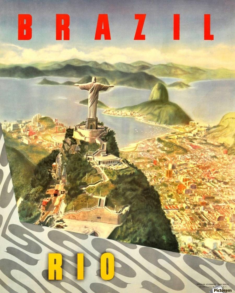 Rio De Janeiro Acrylic Print Canvas