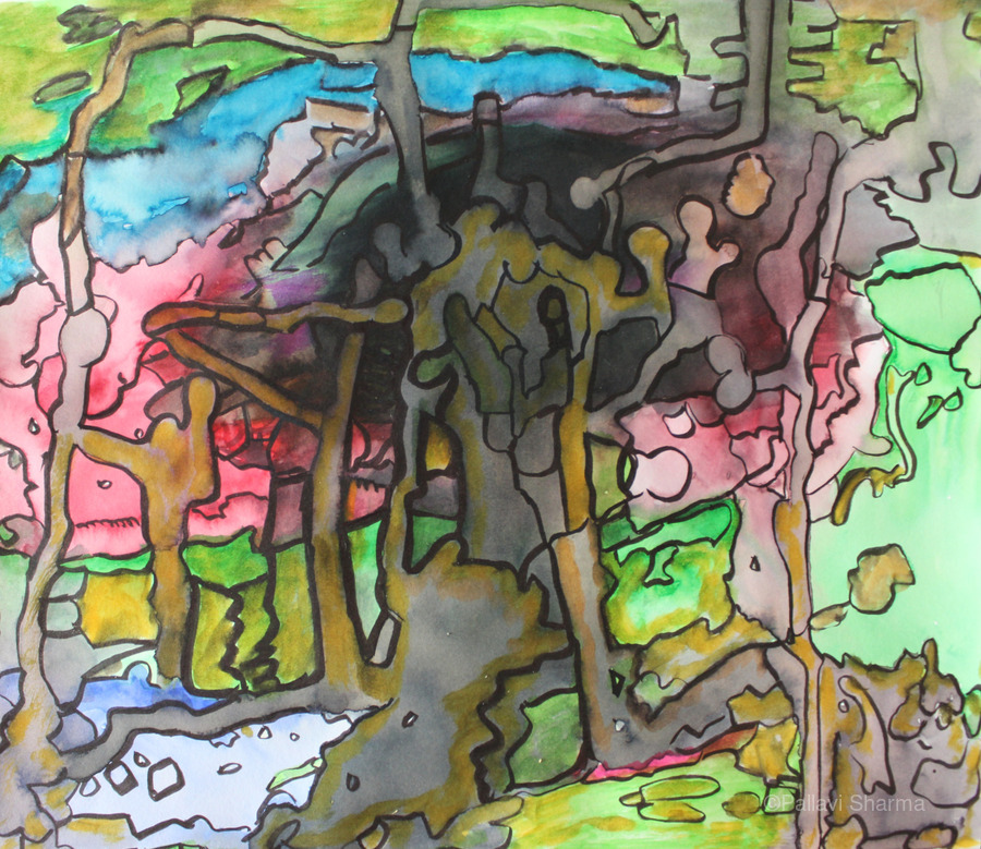 Abstractforest  Print