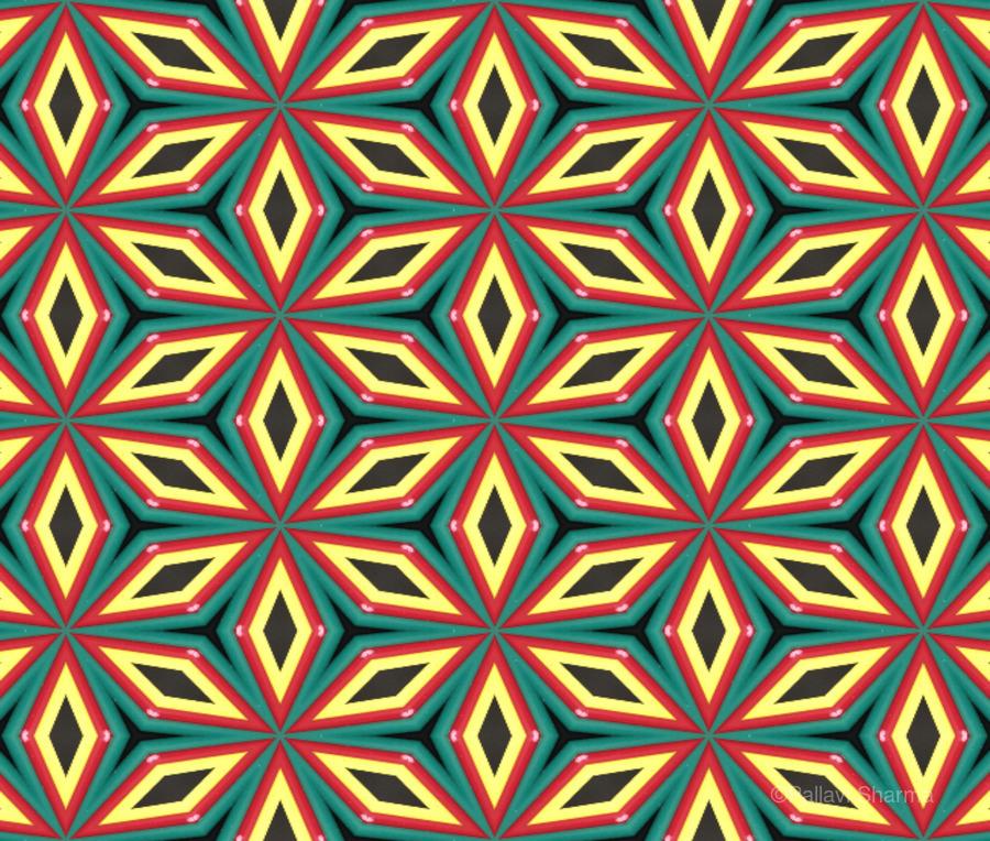 Colorful pattern  Print