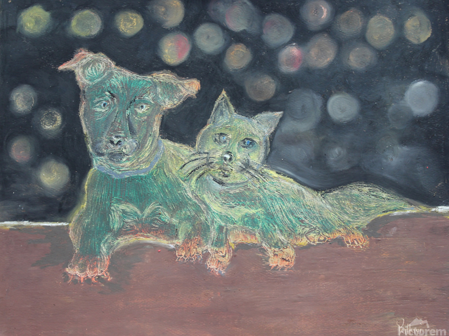 Dogs and cats  Print