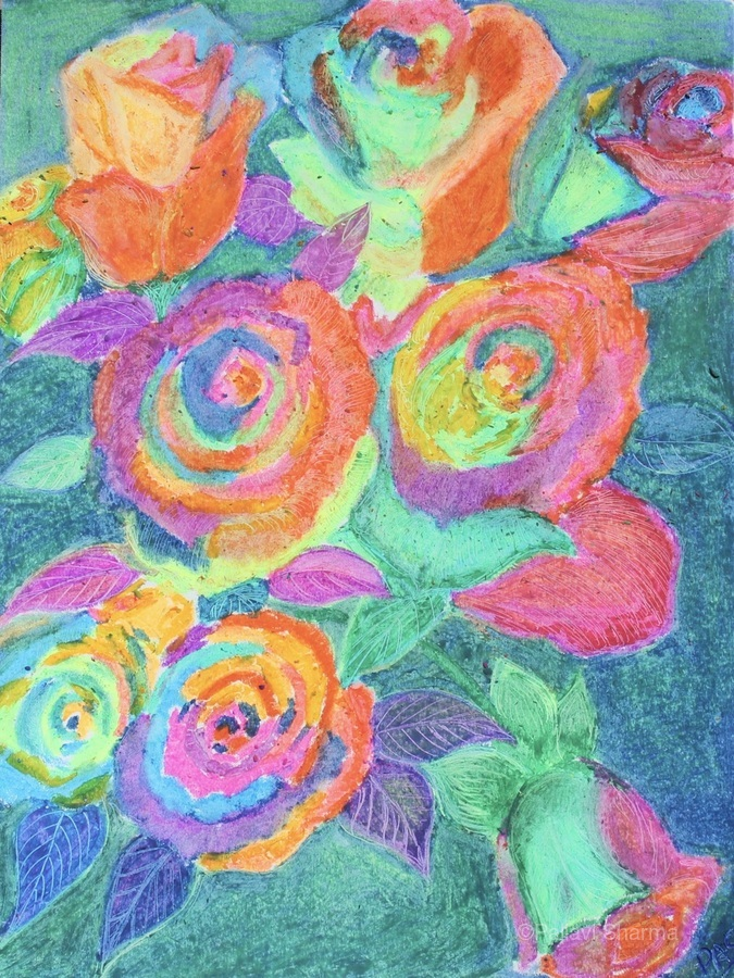 Colorful flowers  Print