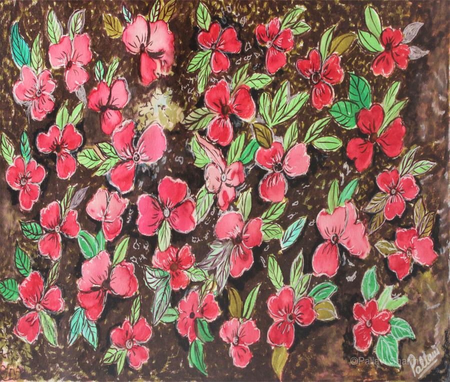 Redflowers  Print