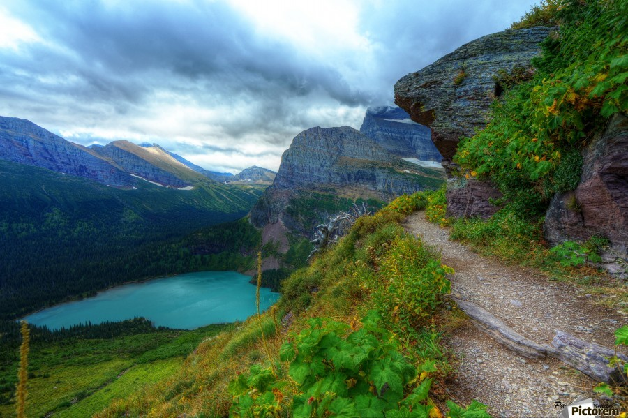 51 -2 Trail to Grinnell Glacier  Print