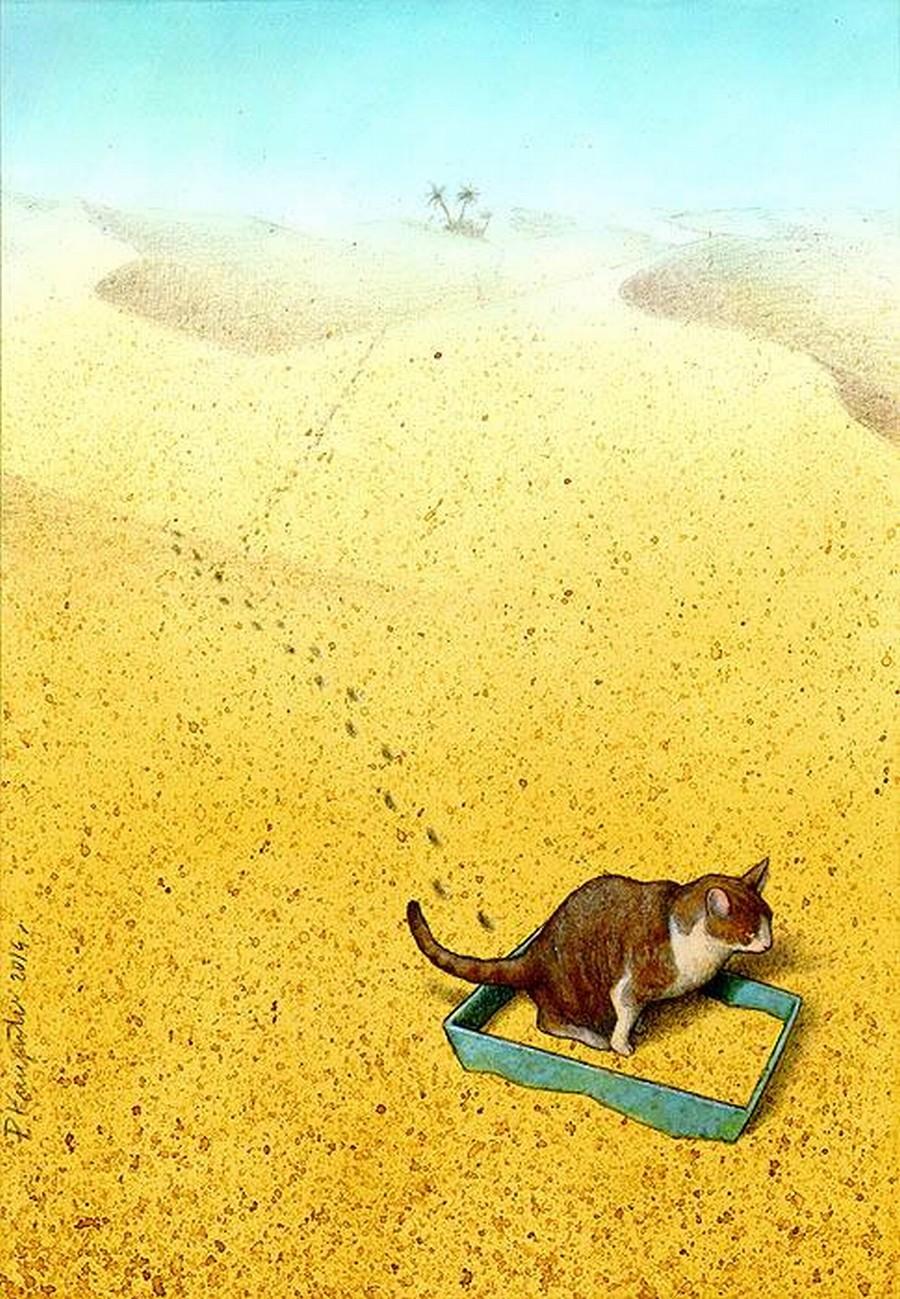 Cat Sandbox  Print