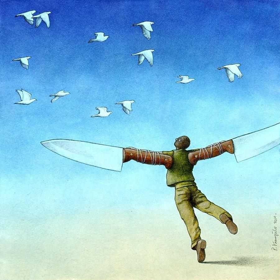 Flight Pawel Kuczynski Canvas