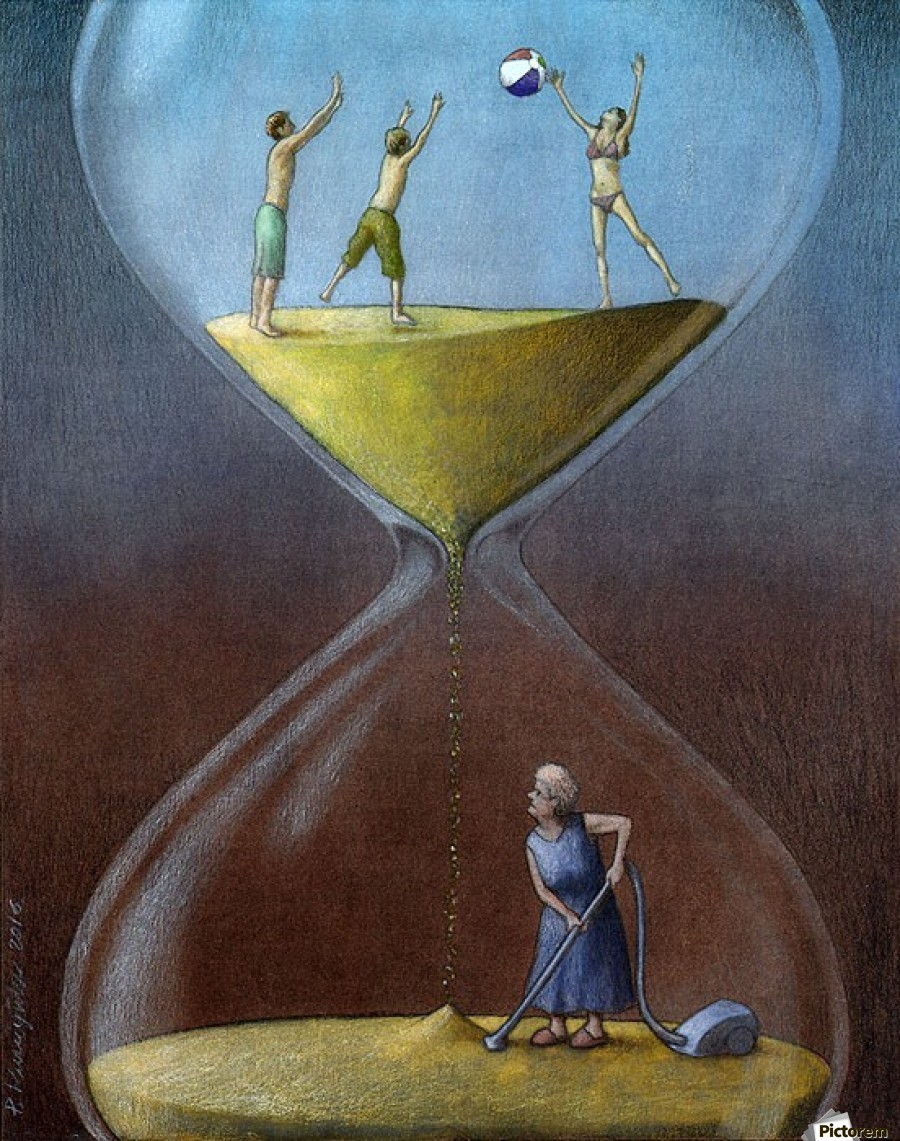 Time pawel kuczynski canvas for The art of painting