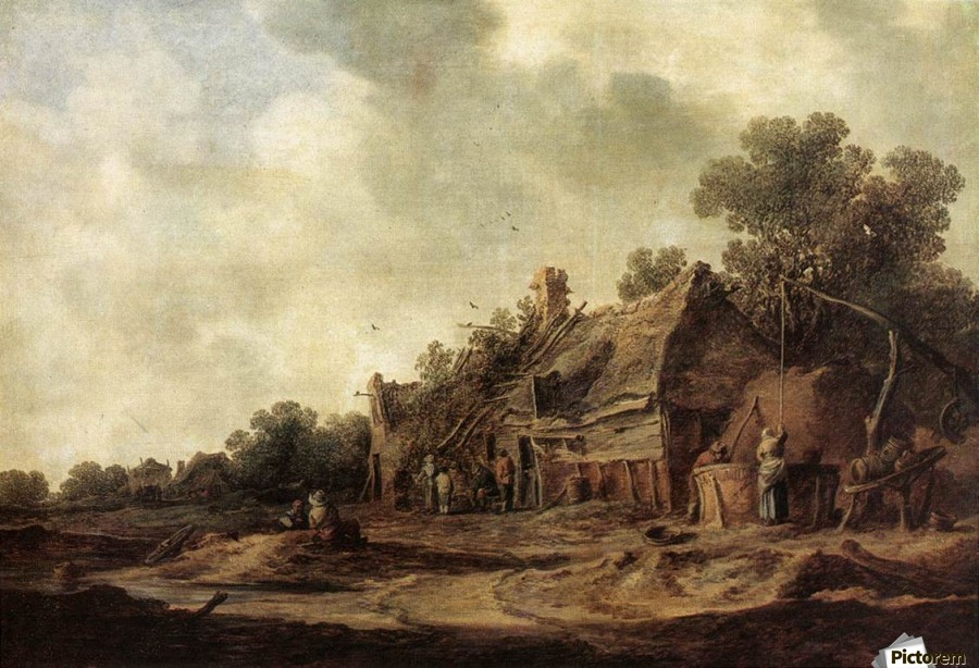 Peasant Huts with Sweep Well1633  Print