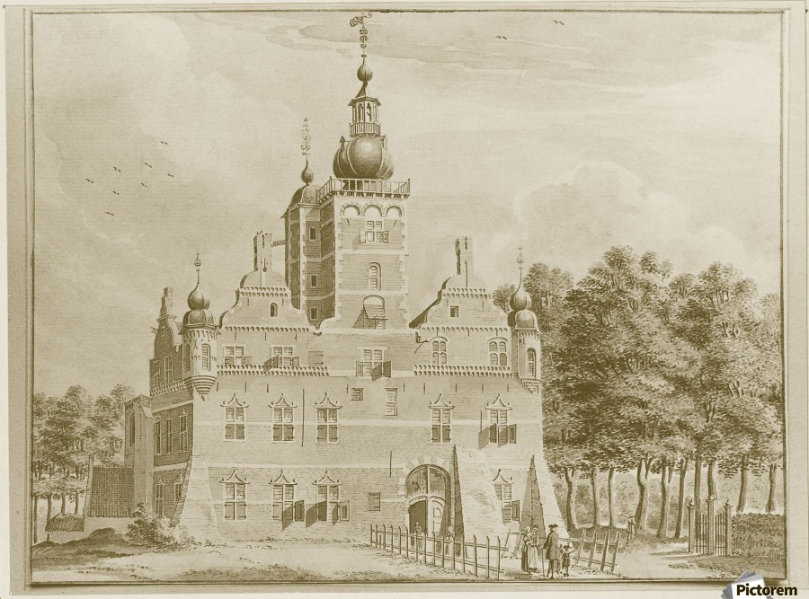 People entering a castle  Print