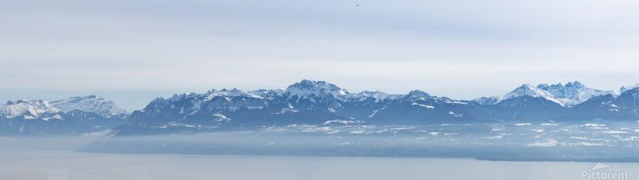 Lake Geneva and Alps  Print
