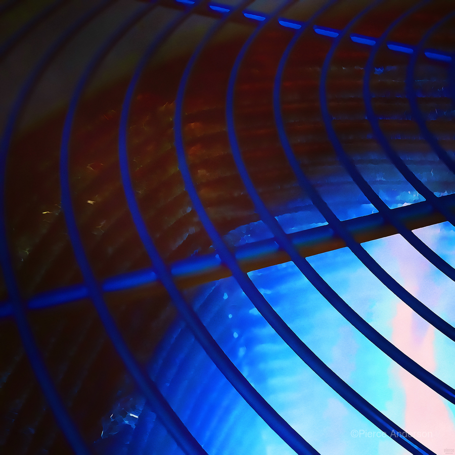 abstract blue curved lines  Print