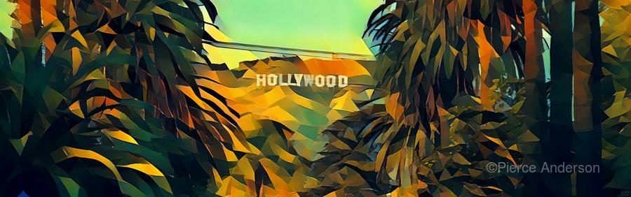 hollywood sign art  Print
