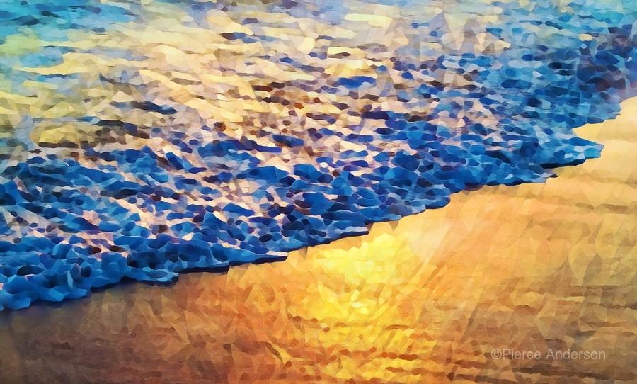 Manhattan Beach Water  Print