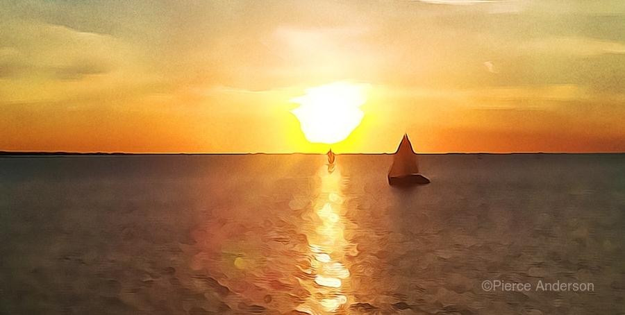 Pierce Anderson Sail Boats Art  Print