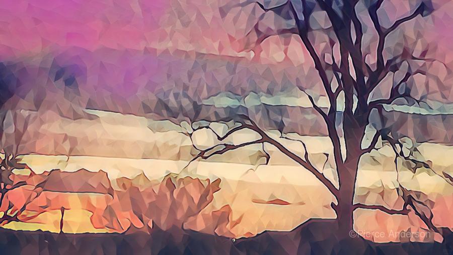 winter sky lavender  Print