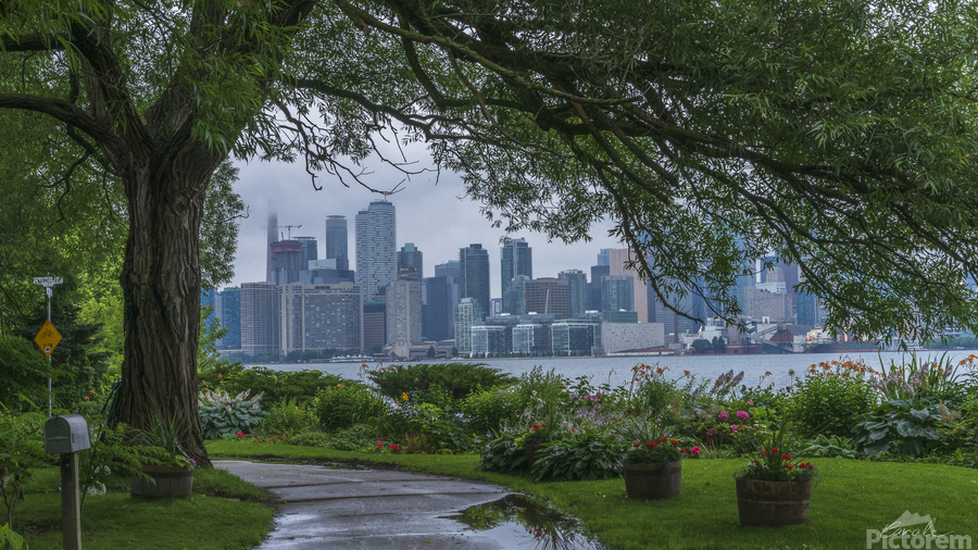 Downtown Toronto seen from Wards Island  Print