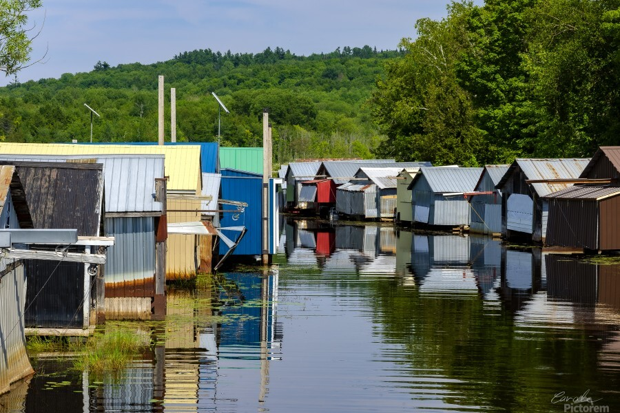 Hangars    bateaux - Boathouses  Print