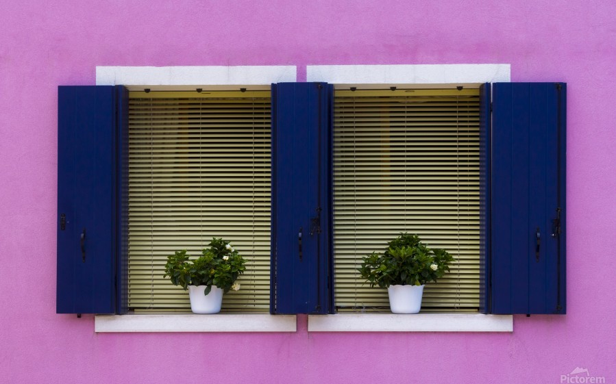 Windows in Burano  Print