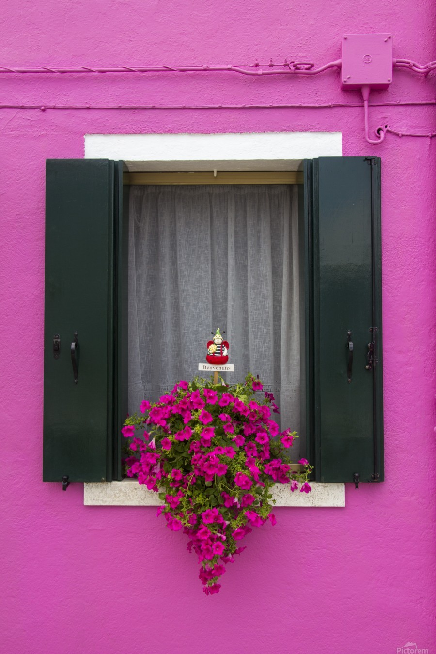 Colored window in Burano  Print