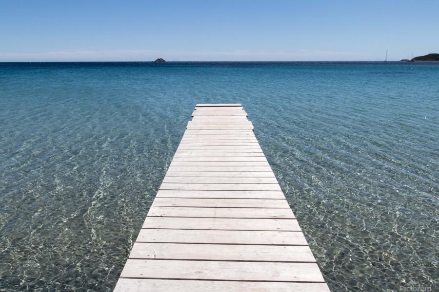 Pinarellu beach in Corse  Print