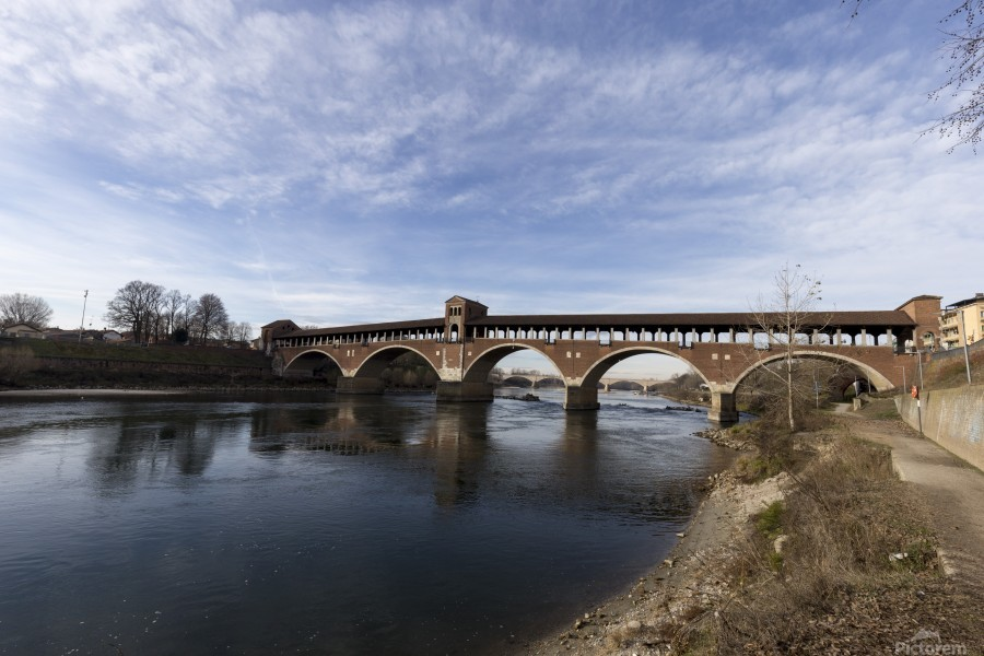 Pavia - Il Ponte coperto  Print