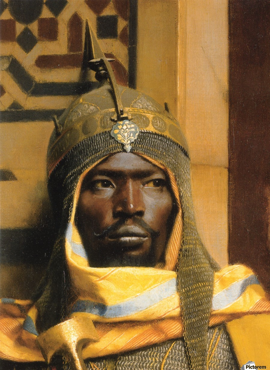 Portrait of Nubian Palace Guard  Print