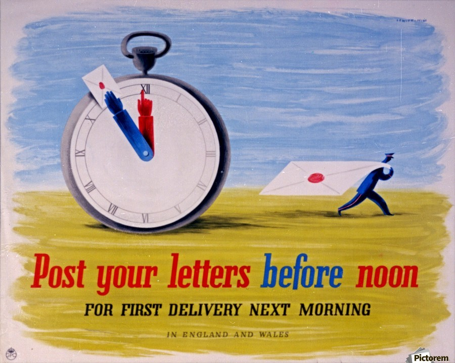 Post your letters before noon  Print