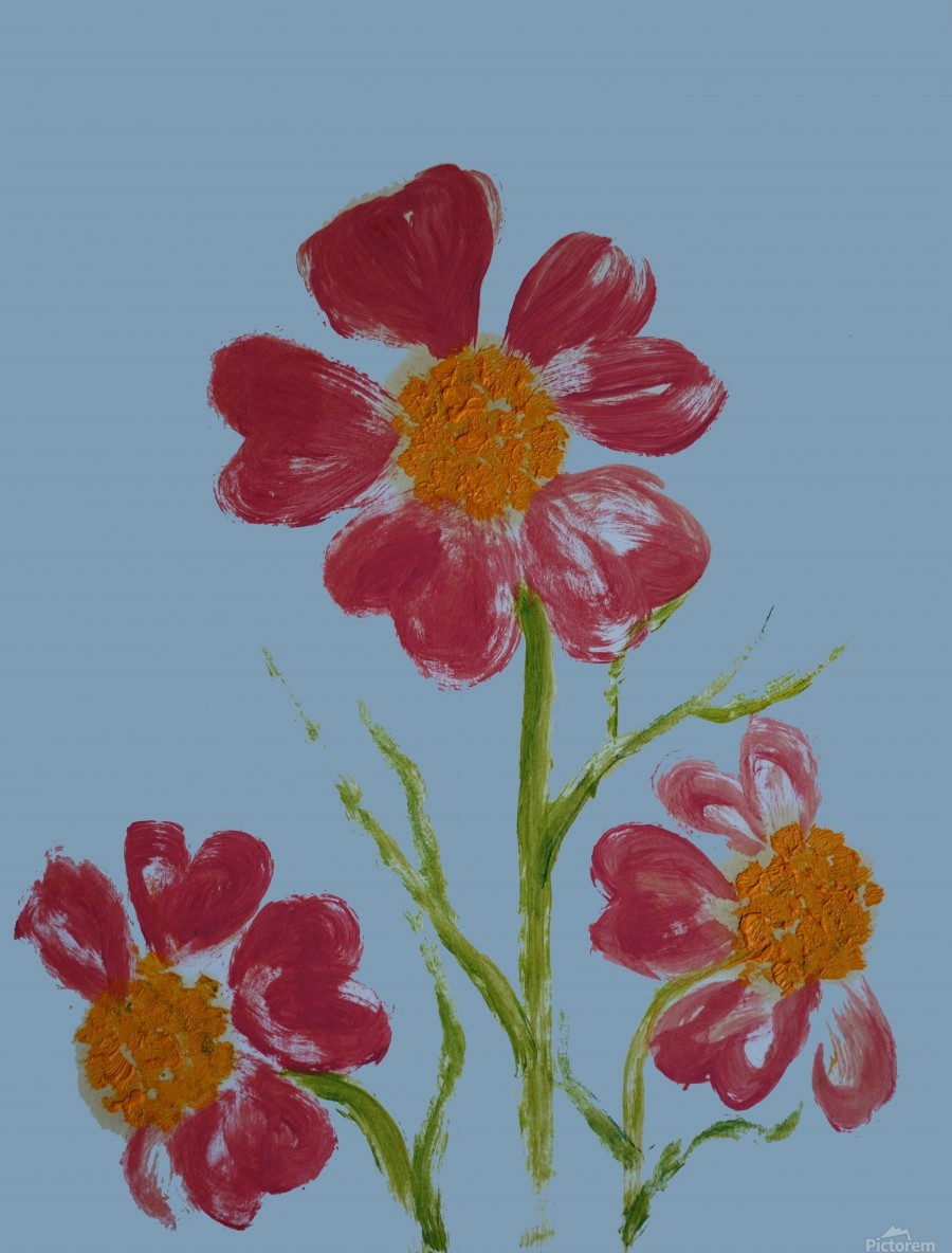 Red Flower 2  Print