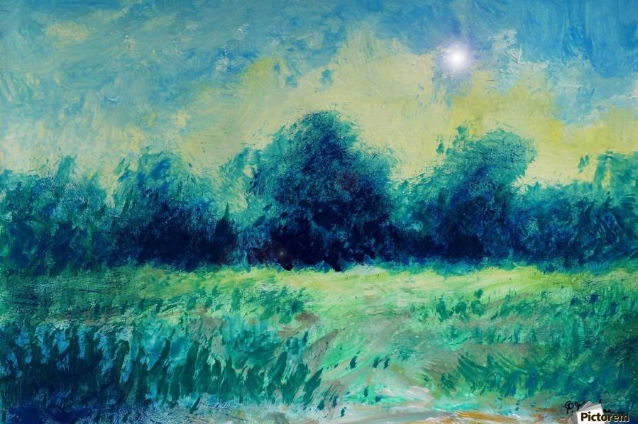 Landscape and Sun  Print