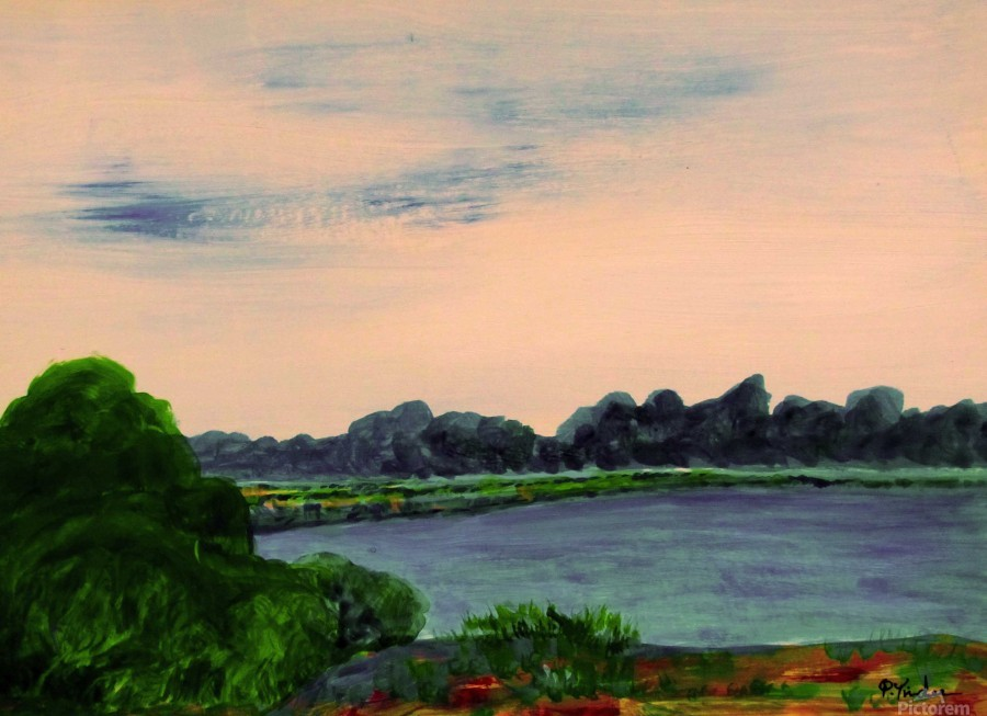 Evening Landscape  Print