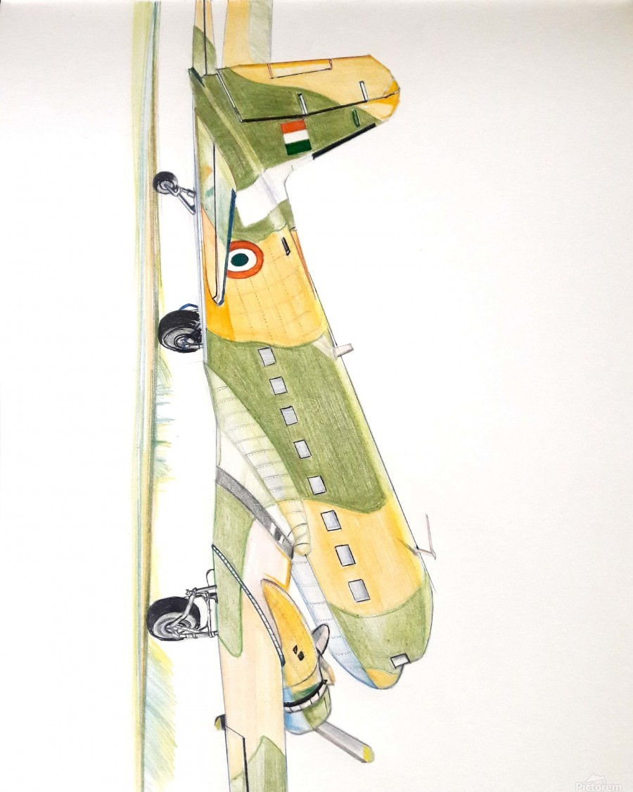 Dakota Douglas DC-3 Indian Air Force - Pramod sharma Canvas