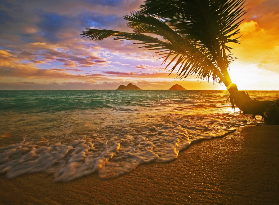 Lanikai Beach Sunset  Print