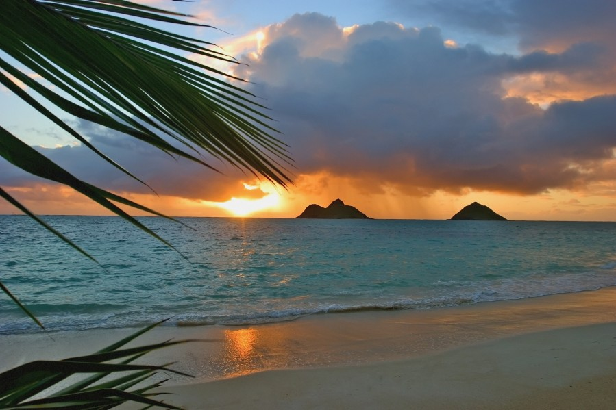 sunrise at Lanikai beach  Print
