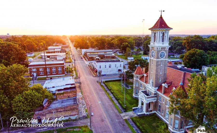 Clarendon AR | Monroe County Courthouse  Print
