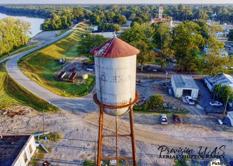 Clarendon, AR | Water Tower  Print