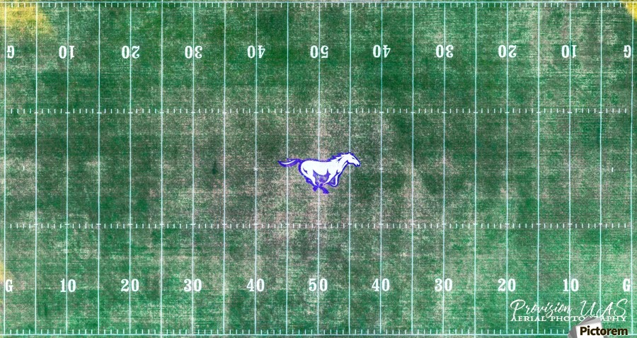 North Little Rock, AR | Mustang Football Field  Print