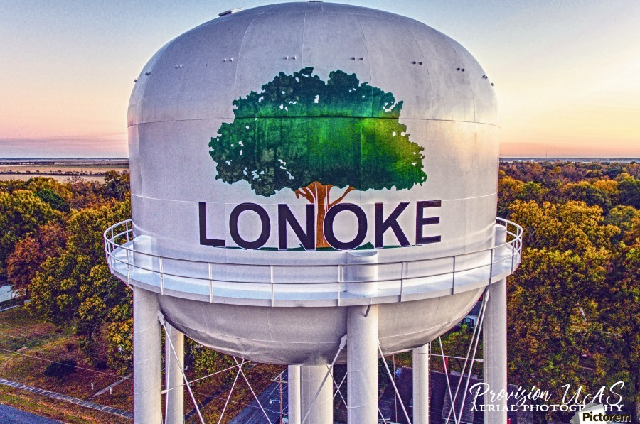 Lonoke, AR | Painted Water Tower 2017  Print