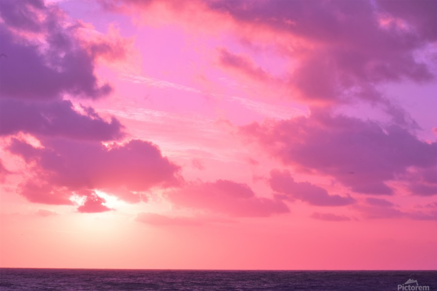 Sunset over the Sea - Shades of Pink  Print
