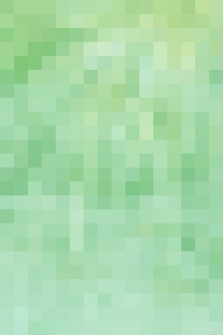 Abstract Pixel Picture - Green shades   Print