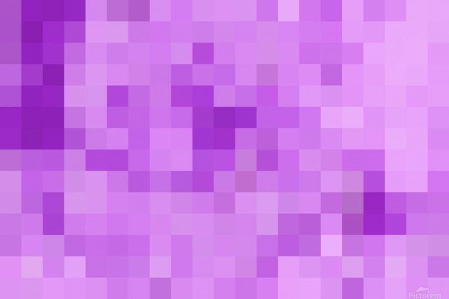 Abstract Pixel Art - Purple Shades  Print