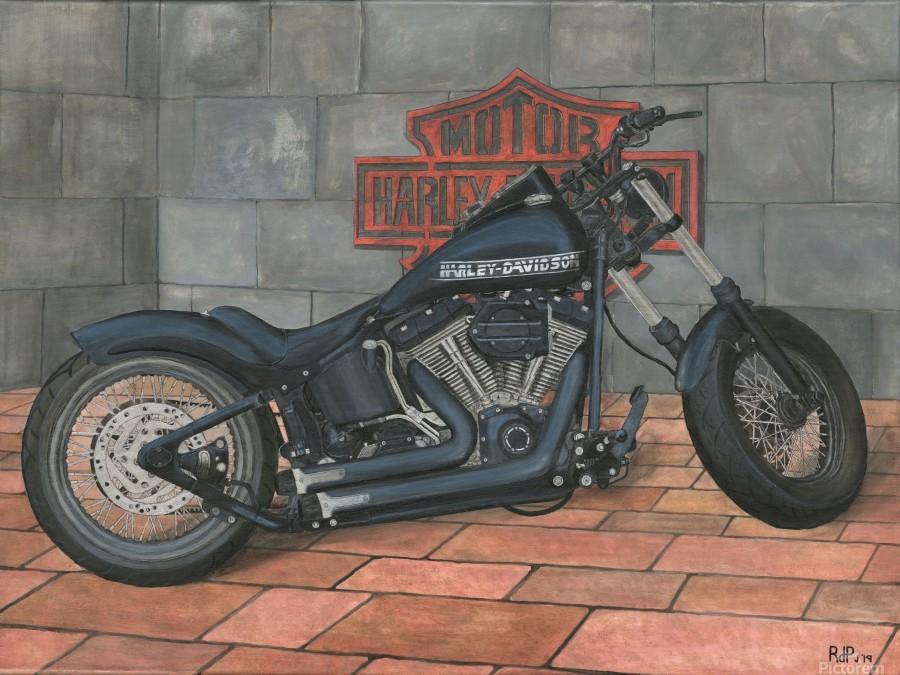 Harley Davidson Motorcycle  Print